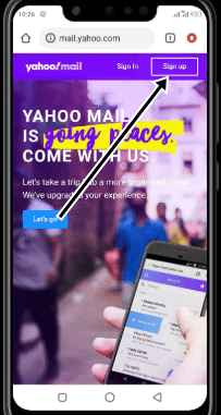 Yahoo Sign up Page image