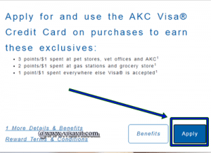 Apply for AKC Credit Card Online image