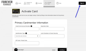 Forever21 Visa Credit Card Activation image